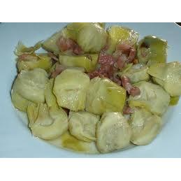 alcachofas salteadas con jamon