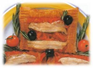 Boquerones con hojladre y pimiento